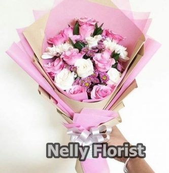 bouquet ultah rose pink BU-005