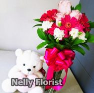 bouquet ultah rose pink BU-008