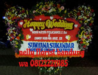 bunga papan happy wedding WE-003