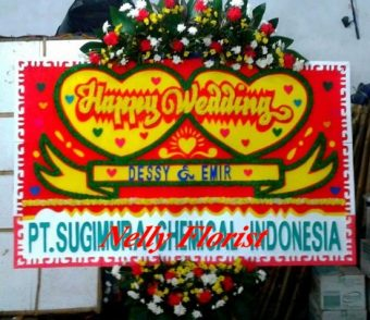 bunga rangkaian wedding WE-019