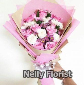 bouquet ultah rose pink BU-005
