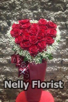 bouquet ultah mawar merah BU-006