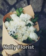 bouquet ultah mawar putih BU-007