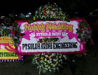 bunga papan happy wedding WE-005