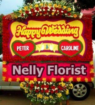 bunga papan wedding WE-008