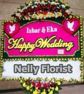 bunga papan happy wedding WE-009