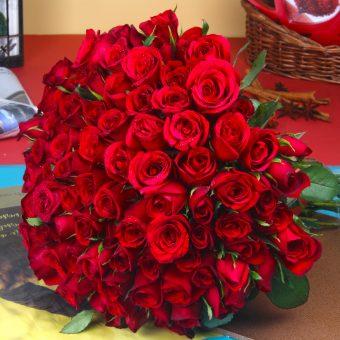bouquet ultah mawar merah BU-010