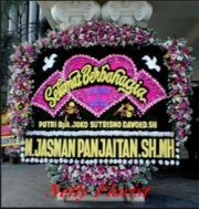bunga karangan wedding WE-022
