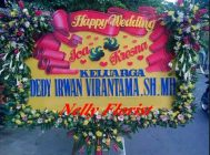 bunga karangan wedding WE-023