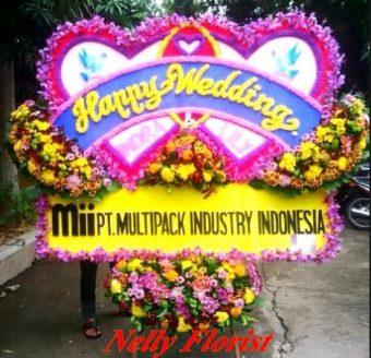 bunga karangan wedding WE-024