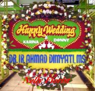 bunga karangan wedding WED-010