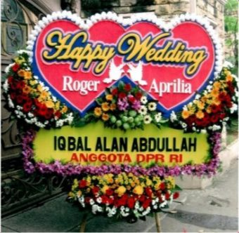 bunga karangan wedding WED-021